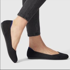 Rothys Black Round Toe Flats Size 7